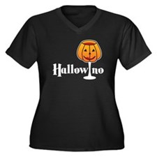 Hallowino Women's Plus Size V-Neck Dark T-Shirt