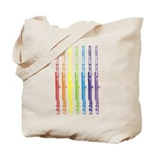 Flutes 7 Rainbow Tote Bag