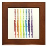 Flutes 7 Rainbow Framed Tile