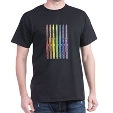 Flutes 7 Rainbow T-Shirt