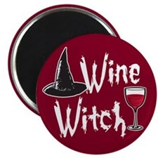 """Wine Witch 2.25"""" Magnet (10 pack)"""