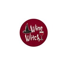 Wine Witch Mini Button (10 pack)