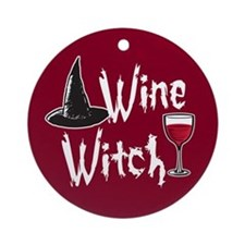 Wine Witch Ornament (Round)