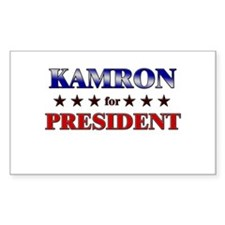 KAMRON for president Rectangle Decal
