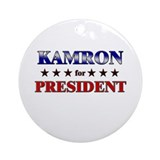 KAMRON for president Ornament (Round)