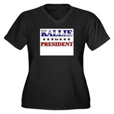 KALLIE for president Women's Plus Size V-Neck Dark