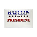 KAITLIN for president Rectangle Magnet (10 pack)