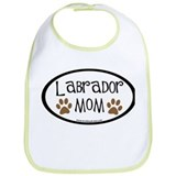 Labrador Mom Oval Bib