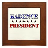 KADENCE for president Framed Tile