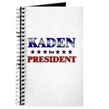 KADEN for president Journal