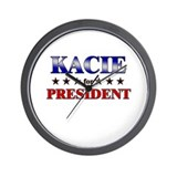 KACIE for president Wall Clock