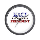 KACI for president Wall Clock