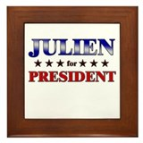 JULIEN for president Framed Tile
