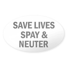 Spay & Neuter - Oval Decal