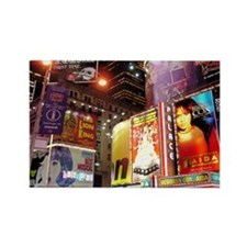 Broadway at Night Rectangle Magnet (10 pack)