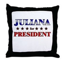 JULIANA for president Throw Pillow