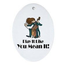 Play The Cello Oval Ornament