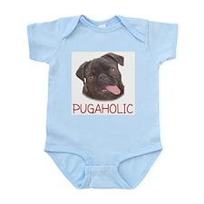 Pugaholics - Black Infant Creeper