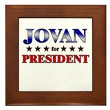 JOVAN for president Framed Tile