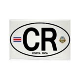 Costa Rica Euro Oval Rectangle Magnet