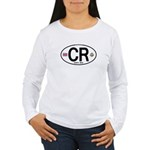 Costa Rica Euro Oval Women's Long Sleeve T-Shirt