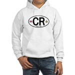 Costa Rica Euro Oval Hooded Sweatshirt
