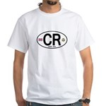 Costa Rica Euro Oval White T-Shirt