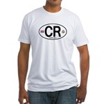 Costa Rica Euro Oval Fitted T-Shirt
