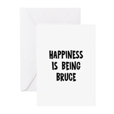 Happiness is being Bruce   Greeting Cards (Pk of 1