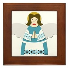 Ukrainian Angel Framed Tile