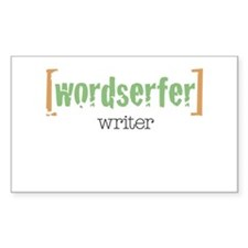 Wordserfer Writer Rectangle Decal