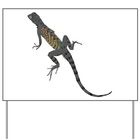 Lizard Yard Sign