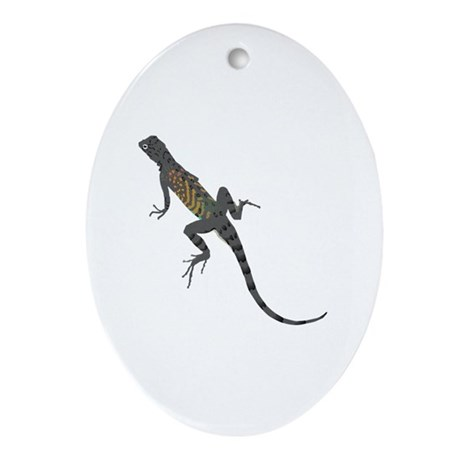 Lizard Oval Ornament