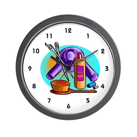 Beautician Supplies on Beautician Gifts   Beautician Living Room   Beautician Wall Clock