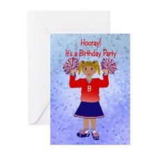 Cheer Birthday Invitation Greeting Cards (Pkg 6)