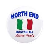 "North End Boston,MA 3.5"" Button"