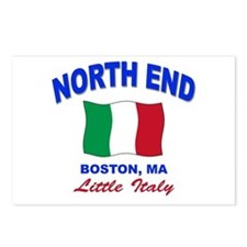 North End Boston,MA Postcards (Package of 8)