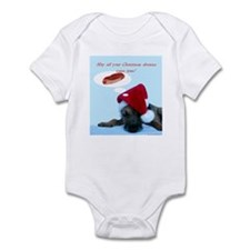 Doggie Christmas Dreams Light Infant Bodysuit