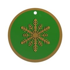 Green and Gold Snowflake Ornament for the Holidays