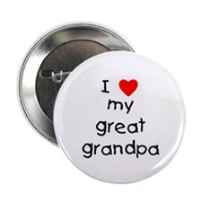 "I love my great grandpa 2.25"" Button (10 pack)"