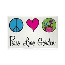 Peace Love Garden Rectangle Magnet (10 pack)