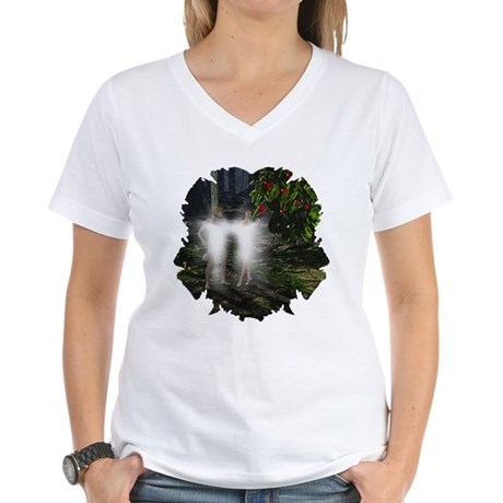 Adam and Eve Before Women's V-Neck T-Shirt