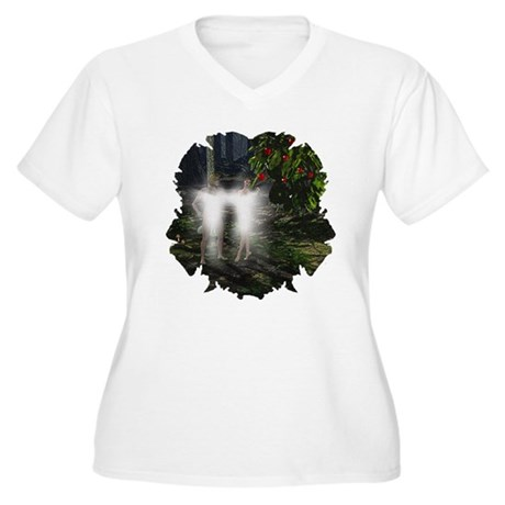Adam and Eve Before Women's Plus Size V-Neck T-Shi