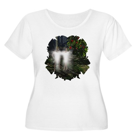 Adam and Eve Before Women's Plus Size Scoop Neck T