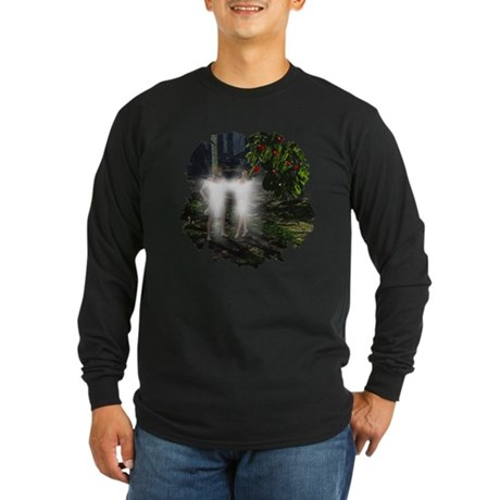 Adam and Eve Before Long Sleeve Dark T-Shirt