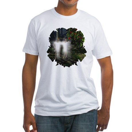 Adam and Eve Before Fitted T-Shirt