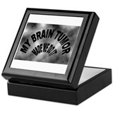 Cute Brain cancer Keepsake Box