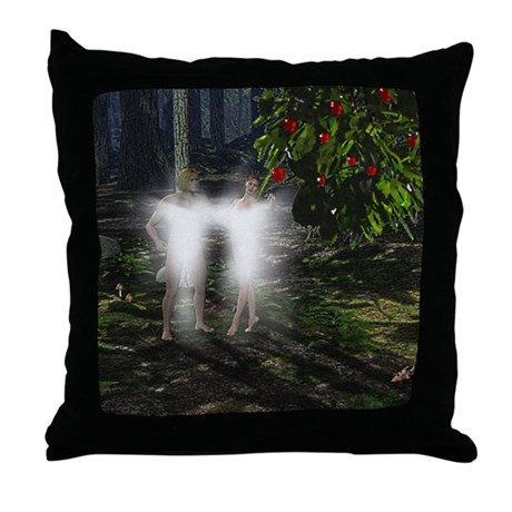 Adam and Eve Before Throw Pillow
