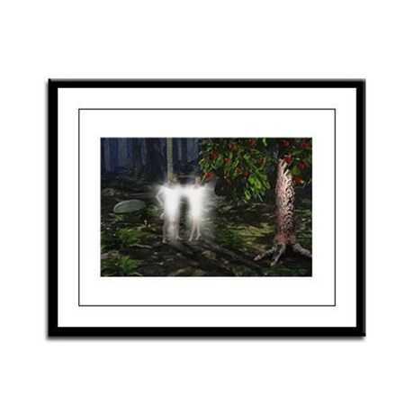 Adam and Eve Before Framed Panel Print