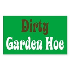 Dirty Garden Hoe Rectangle Decal